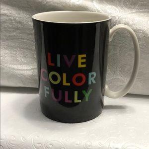 Kate Spade 'Live Color Fully' mug